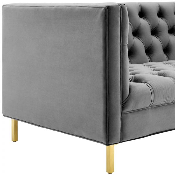Relish Tufted Button Performance Velvet Sofa