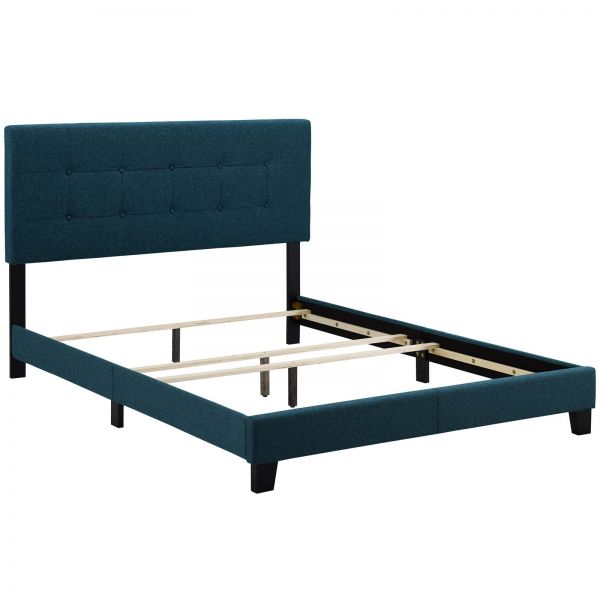 Lucy Queen Upholstered Fabric Bed